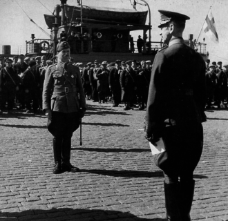 Foreign support of Finland in the Winter War - Hungarian volunteers leaving from Finland after the Winter War.