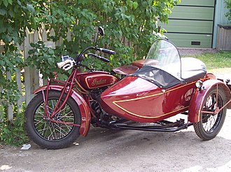 Indian Motocycle Manufacturing Company - 1928 Indian Big Chief with sidecar