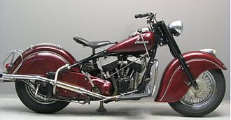 Flathead engine - Image: Indian Chief Black Hawk 80 cubic inch 1950