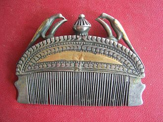 Barrette - Indian antique comb for keeping hair in place