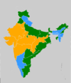 Indian states according to party of their chief minister 17.png