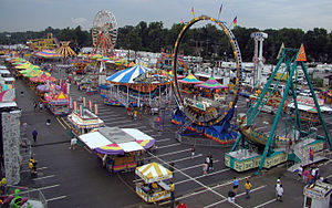 Indiana State Fair - A portion of the midway on the fair grounds