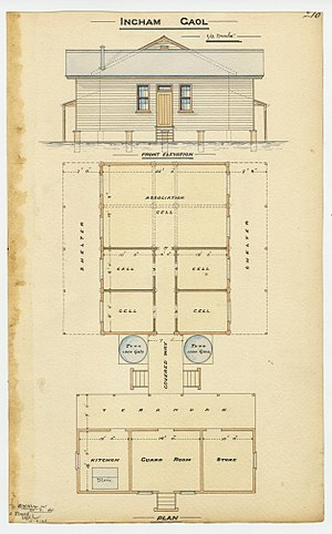 Ingham, Queensland - Architectural plans for Ingham Gaol