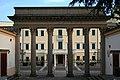 Ingresso alle sorgenti Montirone ad Abano Terme, opera di Giuseppe Jappelli, veduta verso l'hotel Savoia.jpg