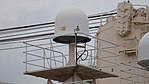 Inmarsat antenna on board helicopter hangar of JS Shirase(AGB-5003) at Kobe Port Terminal September 23, 2017 04.jpg