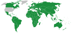 Inter-Parliamentary Union - Map of IPU member states