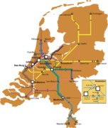 Dutch intercity network, 2012