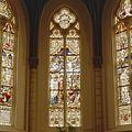 Interieur koor, overzicht glas in loodraam - Maastricht - 20328490 - RCE.jpg