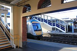 Ipswich station new footbridge and Greater Anglia 170272.jpg
