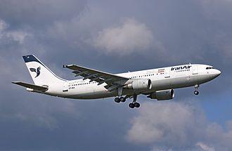 Iran Air - Iran Air Airbus A300B4-605R lands at London Heathrow Airport in 2014