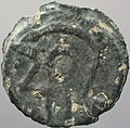 Iron Age coin , potin of the Cantiaci (obverse) (FindID 642270).jpg