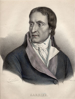 Jean-Baptiste Carrier - Jean-Baptiste Carrier, lithograph by F.-S. Delpech after a painting by J.-B. Belliard