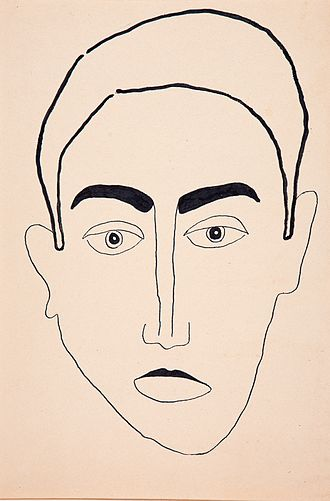 "Jim Amaral - Jim Amaral ""Self portrait"", 1954, ink and pencil on paper, 44 x 30cm"
