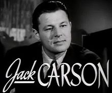 L'actor canadiense Jack Carson, en una scena d'a cinta The Hard Way (1943).