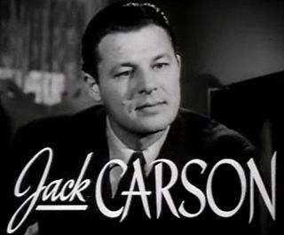 Jack Carson Canadian-American actor (1910–1963)