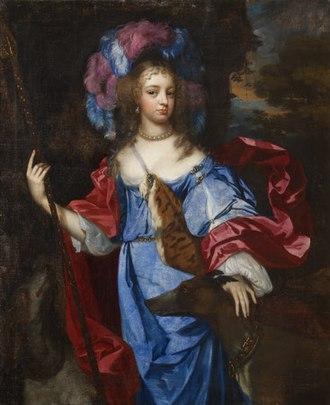 Jacob Huysmans - Elizabeth Cornwallis, Mrs Edward Allen (d. 1708), as Diana the Huntress