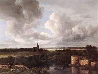 Jacob Isaacksz. van Ruisdael - An Extensive Landscape with a Ruined Castle and a Village Church - WGA20493.jpg