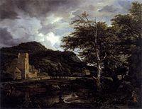 Jacob Isaacksz. van Ruisdael - The Cloister - WGA20481.jpg