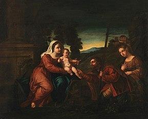 Maria mit Kind und den hll. Rochus und Maria Magdalena (Kopie nach)