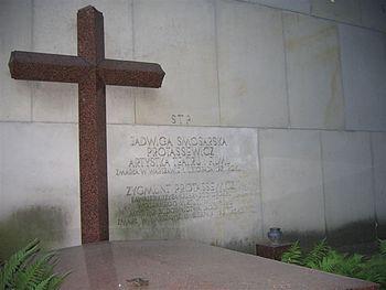 Nagrobek Jadwigi Smosarskiej na Cmentarzu Powązkowskim, Warszawa, 8 lipca 2006 r.