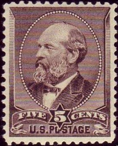 James Garfield 1882 Issue-5c