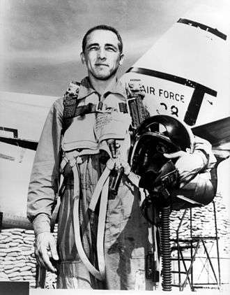 James Robinson Risner - Risner posed with an F-86.