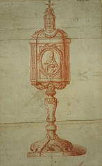Design for a ciborium or reliquary (?)