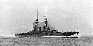 Japanese battleship Kongō - Kongō in her battlecruiser configuration, pre-1927.