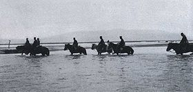 Japanese cavalries Crossing the Yalu River 2.jpg