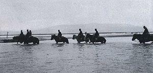 Battle of Yalu River (1904) - Japanese Cavalry Crossing the Yalu River
