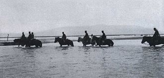 Battle of Yalu River (1904) - Japanese Cavalry Crossing the Yalu River