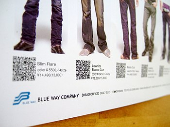 Japanese poster with QR codes