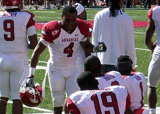 Jarius Wright - Wright at the University of Arkansas.