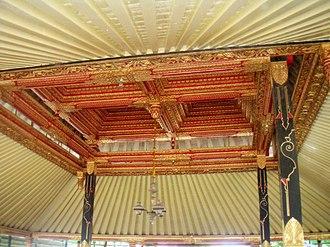 Pendhapa - Tumpangan ceiling within a pendhapa