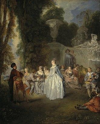 Angélique de Froissy - Image: Jean Antoine Watteau Fêtes Venitiennes Google Art Project