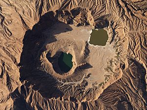 Deriba Caldera - Deriba Caldera sits at the summit of the Jebel Marra Volcanic Field