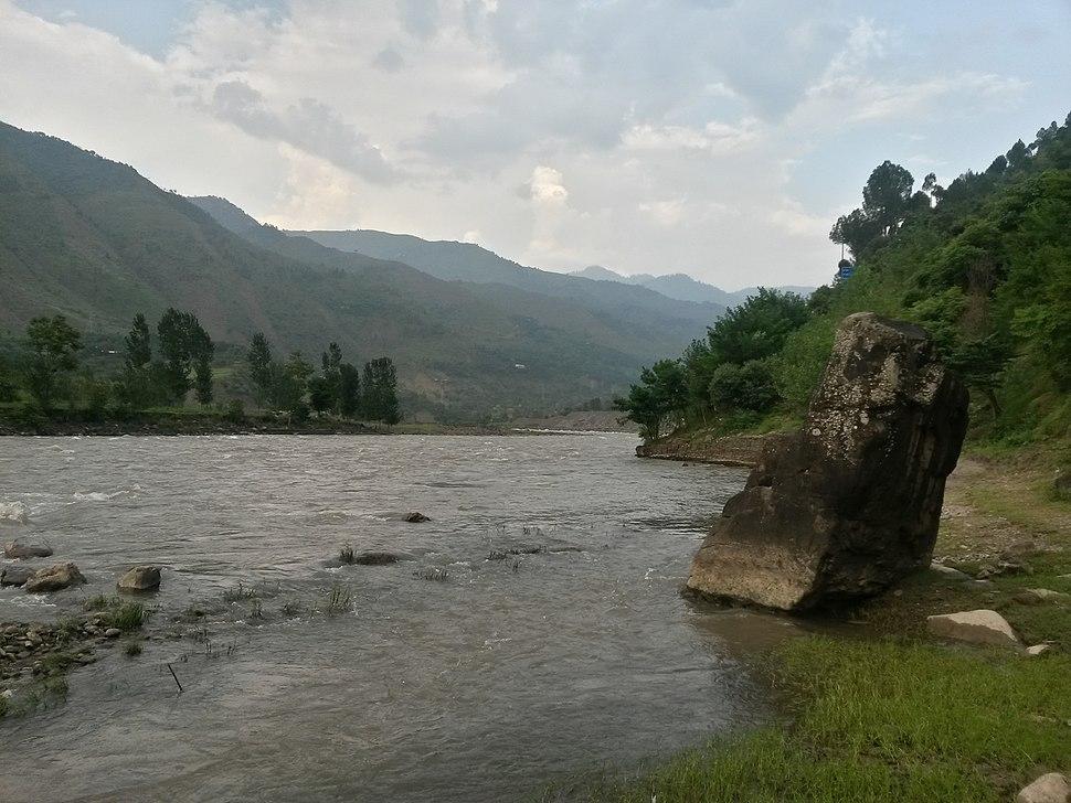 Jehlum River Muzaffarabad best view