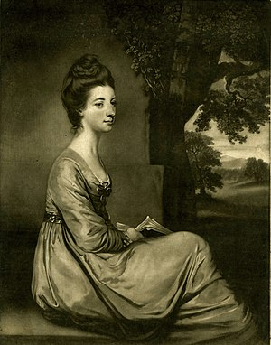 James Watson (engraver) - Engraving from 1771 of Jemima, Countess Cornwallis.