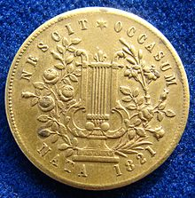 Token with wrong year of birth, 1821, reverse Jenny Lind Token ND about 1850 USA, reverse.jpg