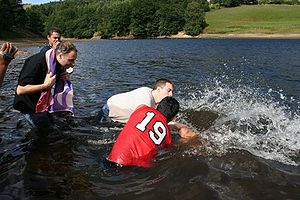Jesus Army - Open-air believer's baptism by the Jesus Army