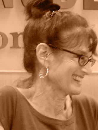 Joan Silber - Joan Silber sharing a moment with audience at New York book signing, June 27, 2013, Barnes & Noble.