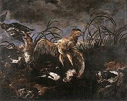 Joannes Fijt - Bittern and Ducks Startled by Dogs - WGA08346.jpg