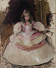La nena Maria Figueroa vestida de menina