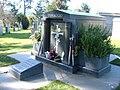 Joe DiMaggio mausoleum front angle.JPG
