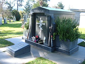 The mausoleum of Joe DiMaggio at Holy Cross Ce...