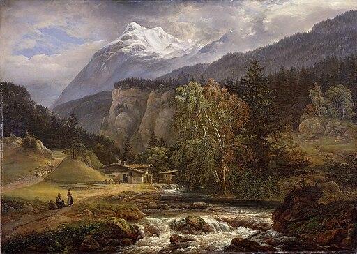 Johan Christian Claussen Dahl - Alpint landskap