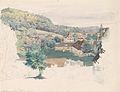 Johann Nepomuk Passini Blick über Bad Rohitsch-Sauerbrunn Skizze.jpg