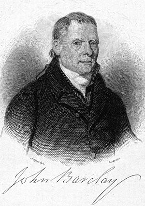 John Barclay (anatomist) - John Barclay later in life