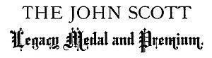 John Scott Medal