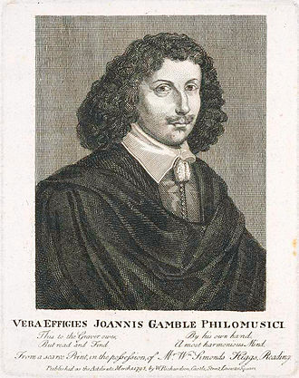 John Gamble (musician) - John Gamble, as published in 1795 by W. Richardson, London